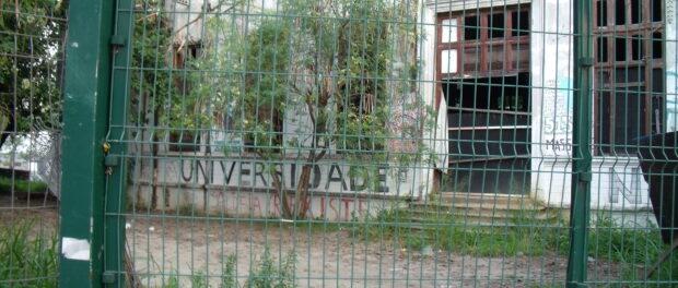 The former Indigenous Museum, site of the Aldeia Maracanã