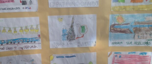 A poster at a school in Rio das Pedras, explaining what students want in Rio.