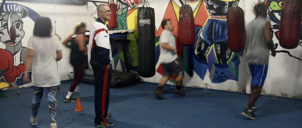 Raff Giglio supervises a training session at his gym.