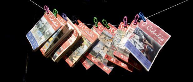 Copies of O Cidadão. Photo by Natalie Southwick