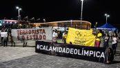 Protest banners. Photo from Rio 2016 - Jogos de Exclusão Facebook page