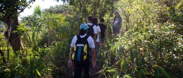Russo Morais leads Dois Irmãos hike. Photo courtesy of Favela Experience