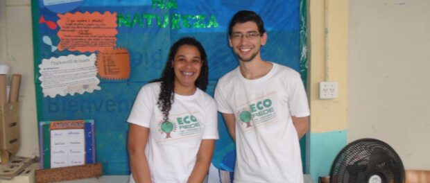 Lucas de Sousa and Fernanda Müller, co-coordinators at Eco Rede