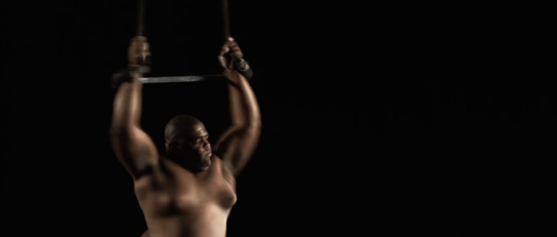 Trapeze artist Djeferson. Film still from Gira and the Circus of Life