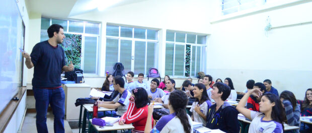 Teacher in public school classroom in Rio. Photo by Alessandra Coelho/PMRJ