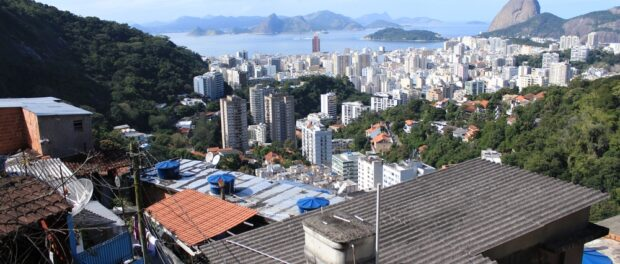 View of Rio's South Zone from favela Pereira da Silva