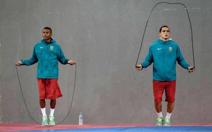 Patrick and Michel training together. Photo via Patrick Lourenço Facebook page.