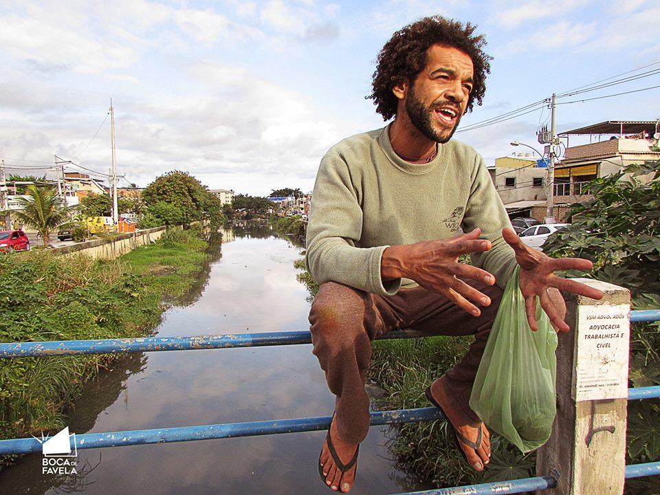 Nélio Fernando from City of God. Photo from Boca de Favela Facebook page