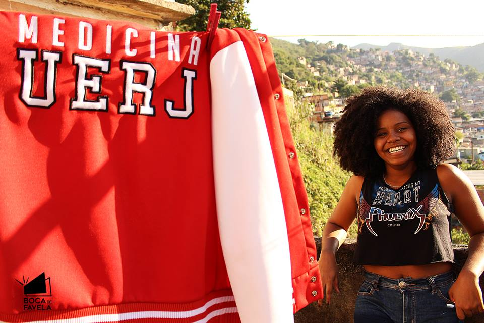 Mirna Moreira from Complexo do Lins. Photo from Boca de Favela Facebook page