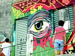 Street art in Prazeres