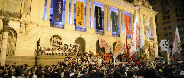 Protest against impeachment in Cinelândia. Photo by Fernando Frazão/Agência Brasil