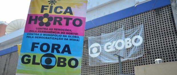 Horto protest in front of globo