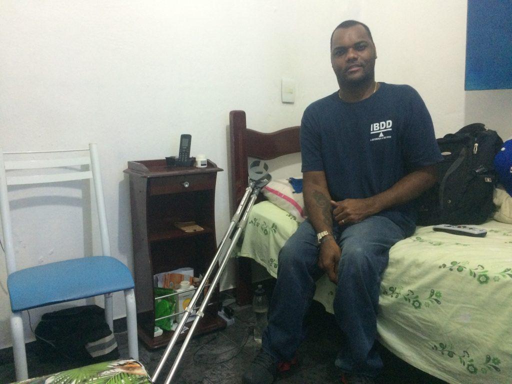 Valdir in his home in Rocinha
