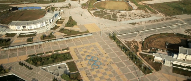 Stadiums in previous host cities are now abandoned. Still from HBO documentary