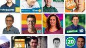 Rio's mayoral candidates 2016, from left to right: Pedro Paulo; Carlos Osorio; Alessandro Molon; Carmen Migueles; Cyro Garcia; Marcelo Freixo; Jandira Feghali; Marcelo Crivella; Indio da Costa; Thelma Bastos; Flávio Bolsonaro.