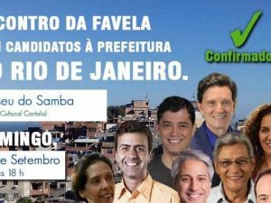 Rio mayoral candidates meet with favela residents