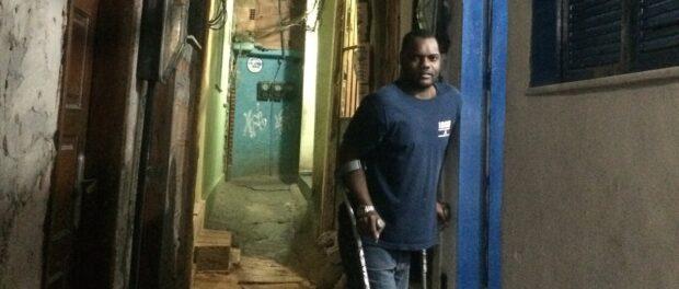 Valdir Mansur lives with a disability in Rocinha