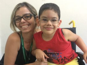 Maria and her five-year-old son Alejandro