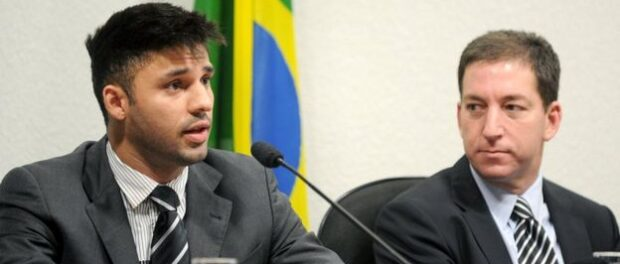 David Miranda (left) from Jacarezinho was also elected to city council