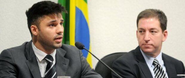 David Miranda (left) from Jacarezinho was also elected to city council