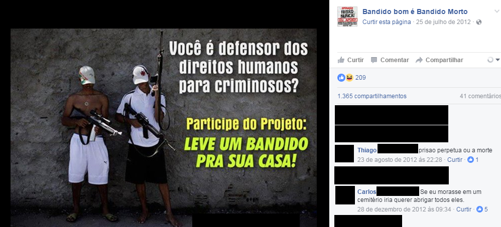 """Are you a defender of human rights for criminals? Participate in the project: take a thug home with you!"""