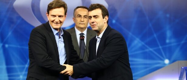 Crivella and Freixo during debate