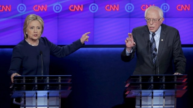 Clinton and Sanders debate