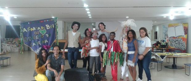 cultural intervention by the experimental theater group made up of CIEP 350 students