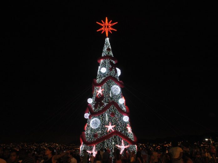 Christmas tree in Complexo do Alemão
