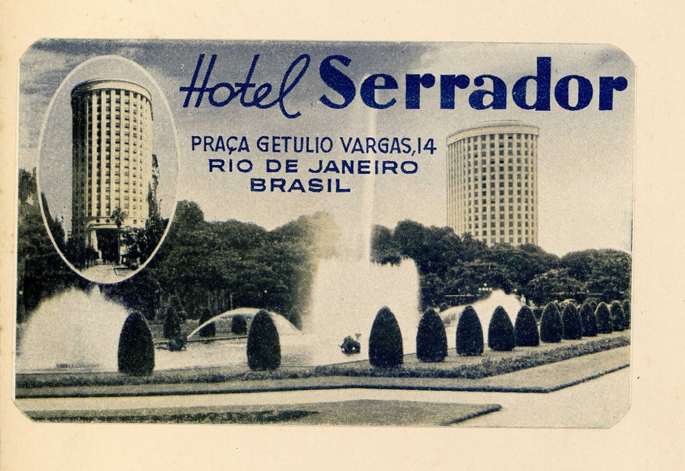 Postcard showing Hotel Serrador, where African-American ballerina Katherine Dunham was denied a room because of her race.