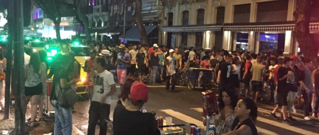 Festa na rua: Thousands flock to Lapa each weekend where the street party often continues until dawn. It is a lucrative but risky area for vendors--demand is high but police crackdowns are common and unpredictable.