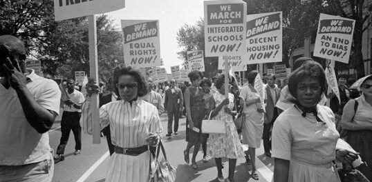 Protesters during the Montgomery Bus Boycott.