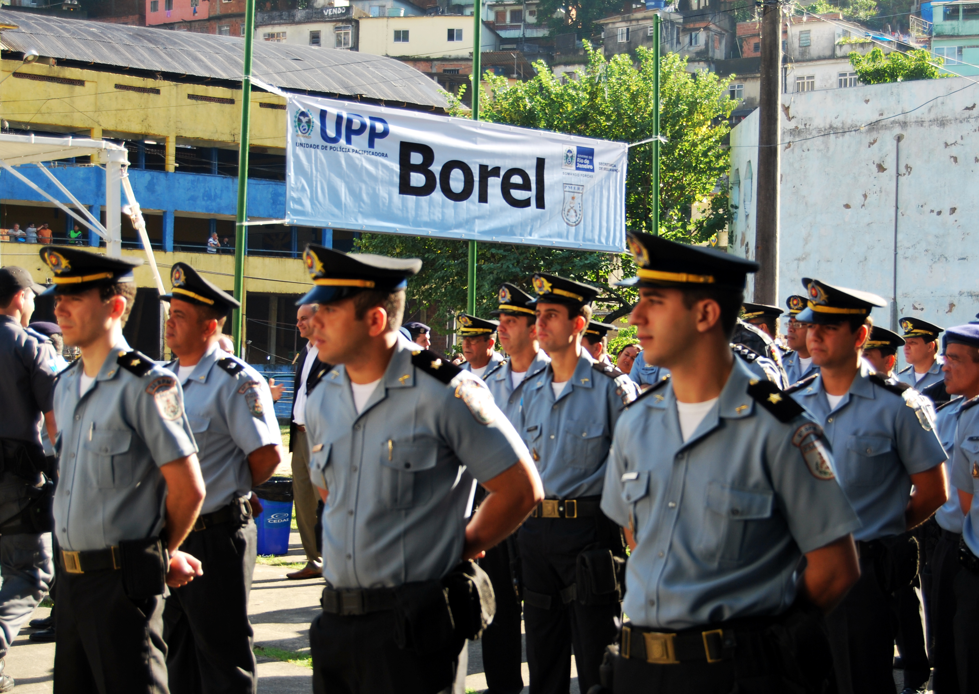 Police officers in Borel (Priscila Marotti/Seseg-RJ)