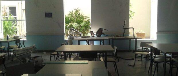An abandoned classroom in the Jacarezinho favela. Photo by: Dorotéa Frota Santana