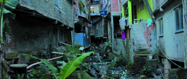 Many homes in Rocinha don't have formal connections to the sewerage network.