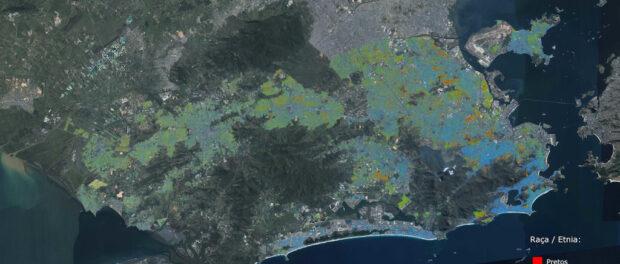 Racial map of Rio de Janeiro. Map by Hugo Nicolau Barbosa de Gusmão with IBGE data.