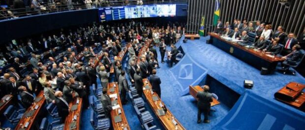 The Brazilian Senate voting on PEC 55