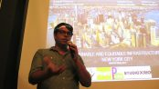 Professor Leonel Ponce introducing event