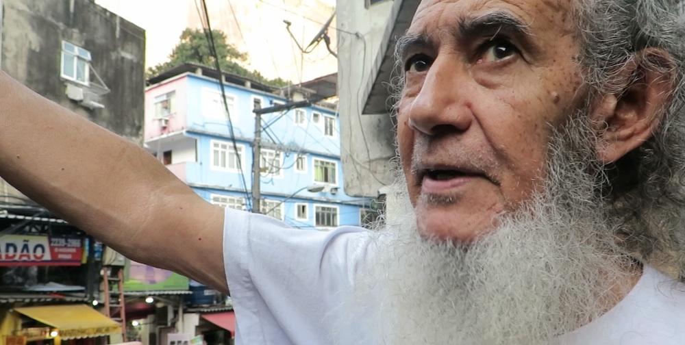 José Martins describing community's long struggle for proper services