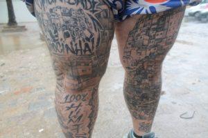 Zezinho's favela tattoos (Photo by Kayla Foley, blog: Salt Hair, Don't Care)