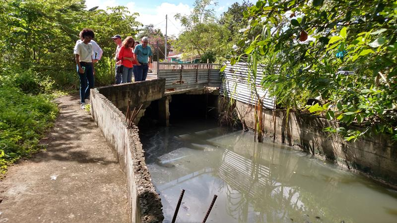 Caño Martín Peña at Israel and Bitumul communities where sewage flows into the channel.