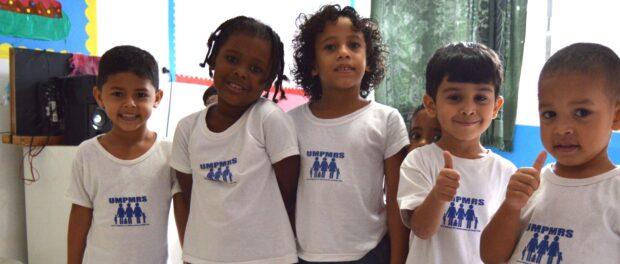 Kids at União de Mulheres' daycare