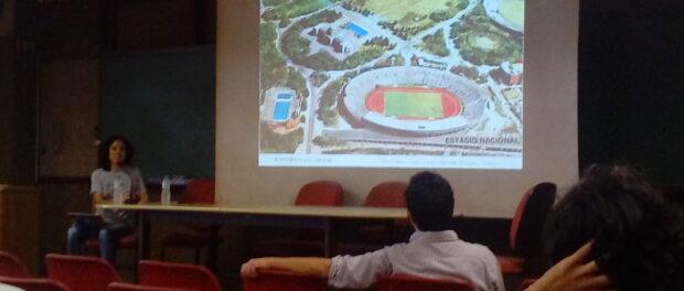 Tanaka explains the debate over the National Stadium