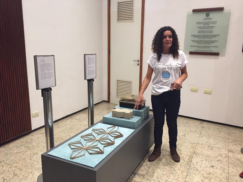 Sandra Maria presents and shares history of demolition remains