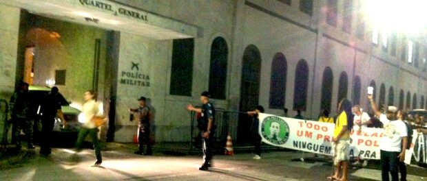 Protest leaving Military Tribunal