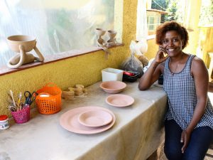 Ceramics for All teacher Tatiana Costa at the AMAHOR studio