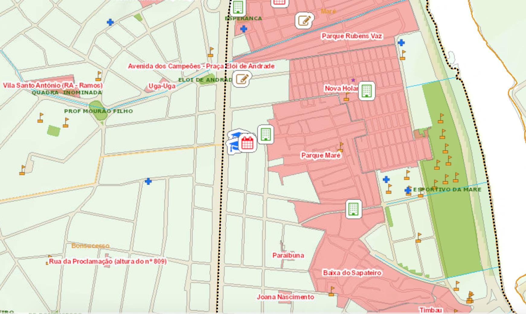 RCI Maré Map