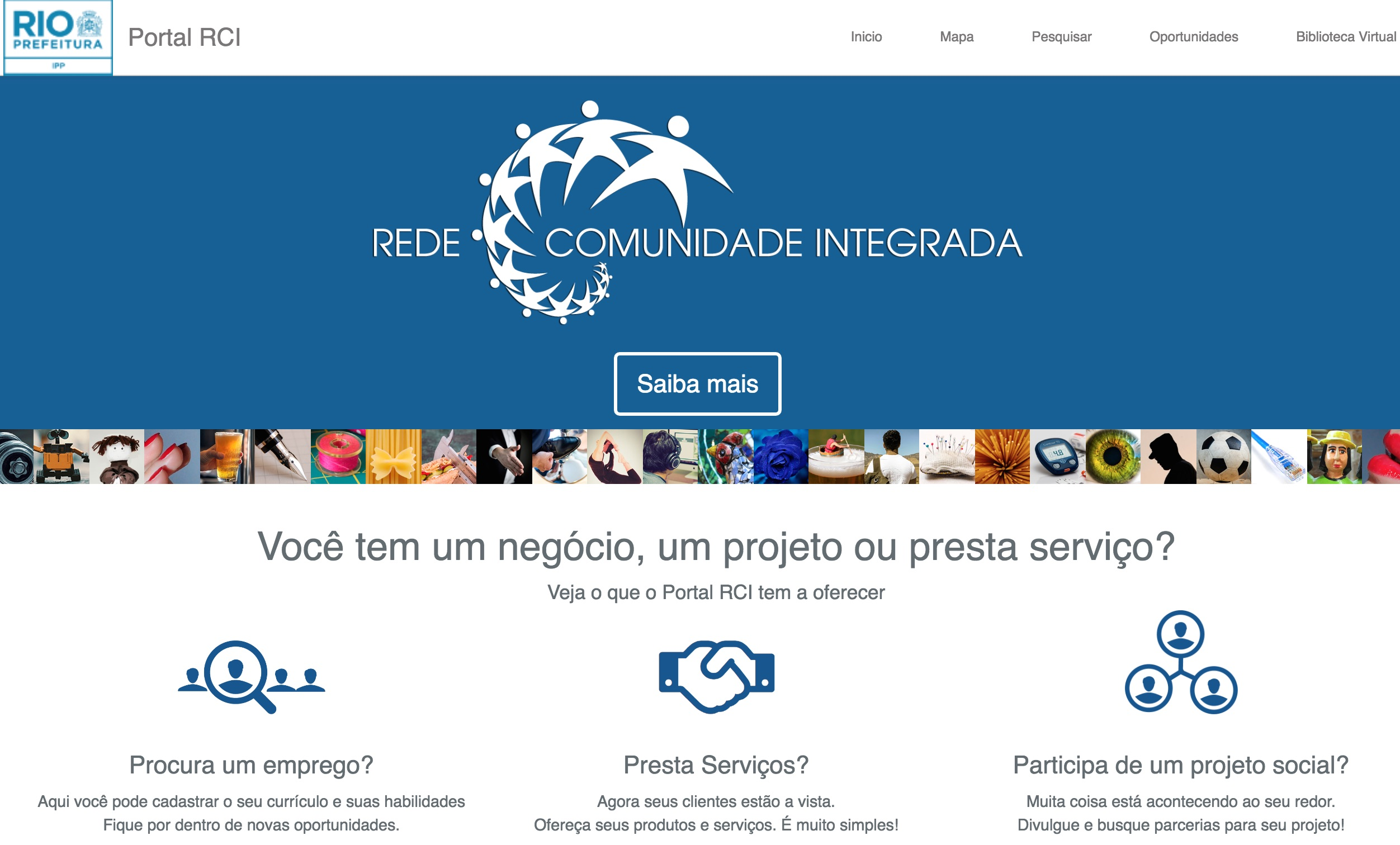 """Do you run a business, project, or service?"" IPP RCI homepage"
