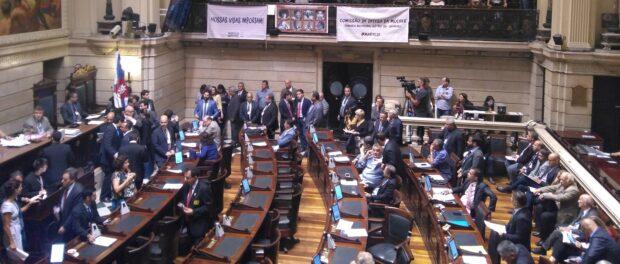 Votes being cast on Marielle's bills. Photo by Priscilla Mayrink