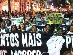 Protesters fill Rio Branco avenue. Photo: Dani Orofino / CHAMA Agência Rede